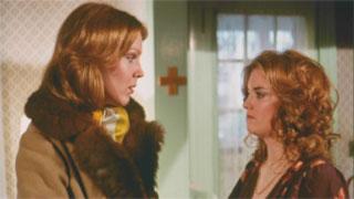 Priscilla confronts the licentious Abigail Leslie in a pivotal scene.
