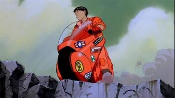 Kaneda and his iconic bike.