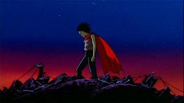 Tetsuo, our teenage tragic hero of this sci-fi drama, works the dramatic stage.
