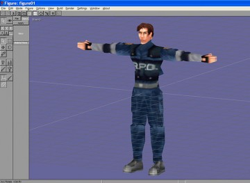 Leon Kennedy modeled in Anim8or