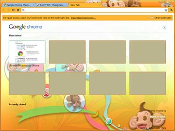 "Google Chrome Theme - ""Super Monkey Ball"""