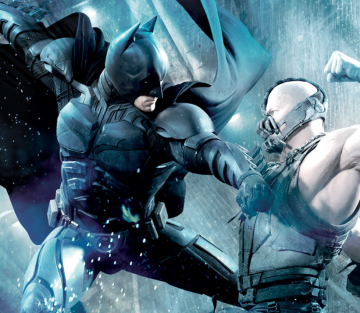 Promo Art Dark Knight Rises Batman Vs Bane
