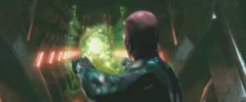 Green Lantern Abin Sur blasts his ring at Parallax