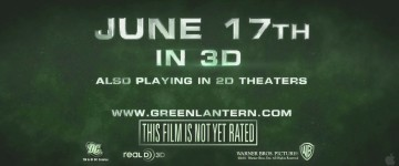 Green Lantern will hit theatres June 17... in 3D... June 17, 2011... got it?