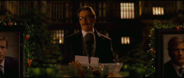 Dark Knight Rises Trailer Analysis: Gary Oldman (as Commissioner Gordon) giving eulogy for Harvey Dent