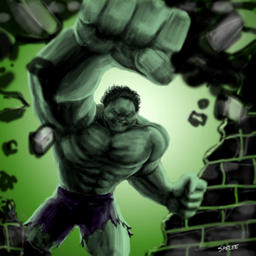 Hulk smash by Saelee