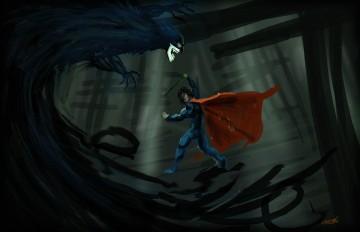 Batman vs Superman ghoul concept