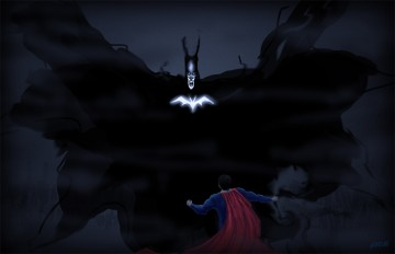 Batman vs Superman banshee concept art
