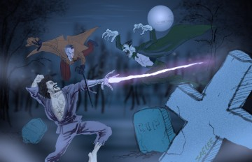 Cyborg Zombie Jesus vs Dracula vs Sherlock Holmes!