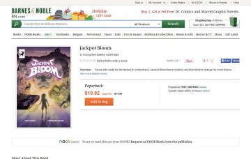 Jackpot Bloom listed at BarnesAndNoble.com