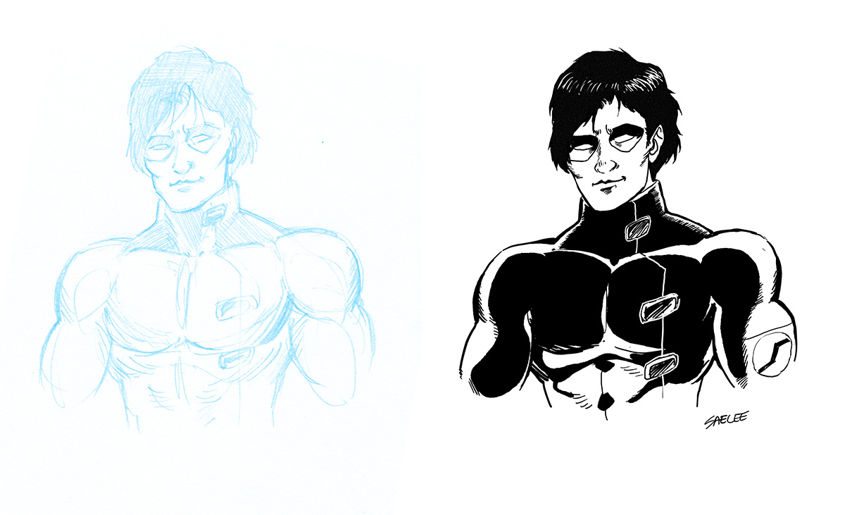 Practice Digital Inking Comic Book Art With Photoshop ...
